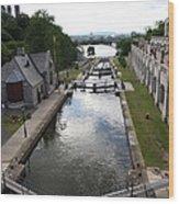 Rideau Canal And Locks - Ottawa Wood Print