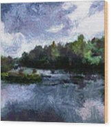 Rideau River View From A Bridge Wood Print