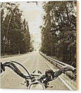 Riders Eye Veiw In Sepia Wood Print