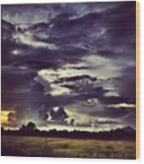 Riders Of The Storm #sky #clouds #drama Wood Print