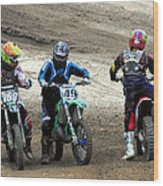 Riders Ready Wood Print