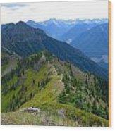 Ridgeline In British Columbia Wood Print