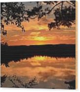 Rifle Rive State Park Sunset Wood Print