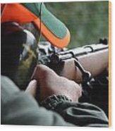 Rifle Training Wood Print
