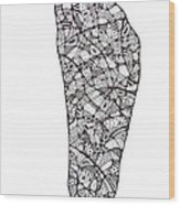 Right Foot Wood Print