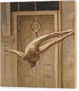 Ring Gymnast No 2 Wood Print by Eugene Jansson
