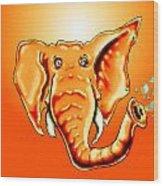 Ringo Party Animal Orange Wood Print