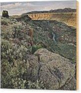 Rio Grande Gorge Above Taos Junction Bridge Wood Print