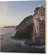 Riomaggio Sunset Wood Print