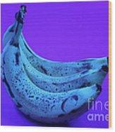 Ripe Bananas In Uv Light 22 Wood Print