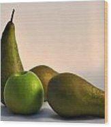 Ripe Pears Wood Print