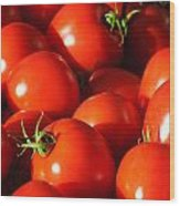 Ripe Tomatoes Wood Print