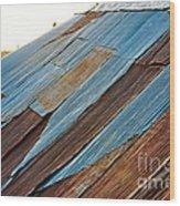 Rippled Roof  Wood Print