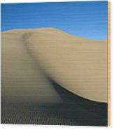 Rippled Sand Dunes In Great Sand Dunes Wood Print