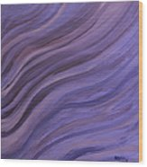 Ripples In The Sand Wood Print by Judy M Watts-Rohanna