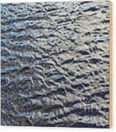 Ripples On Big Water Wood Print