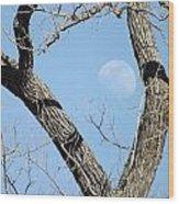Rising Moon Wood Print