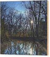 Rising On The River Wood Print