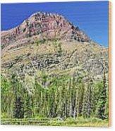 Rising Wolf Mountain Wood Print