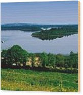 River Cruising, Upper Lough Erne Wood Print by The Irish Image Collection