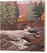 River Dochart Killin Wood Print