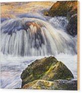 River Flows 03 Wood Print
