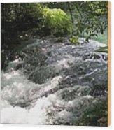 River Flows Wood Print