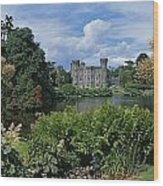 River In Front Of A Castle, Johnstown Wood Print
