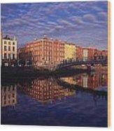 River Liffey And Halfpenny, Bridge Wood Print