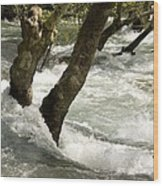 River Manavgat In Flood Wood Print by Bob Gibbons