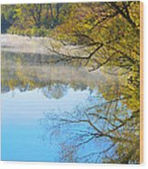 River Mist Wood Print
