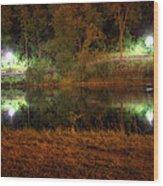 River Night Smooth Wood Print
