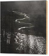 River Of Silver Wood Print