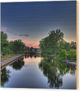 River Or Harbour Wood Print