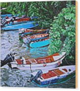 River Rainbow Wood Print