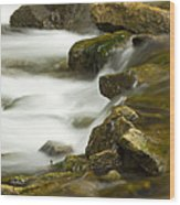 River Rapid 6 Wood Print