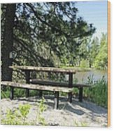 River Rest Stop Wood Print