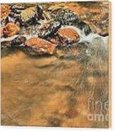 River Rock Swirl Wood Print