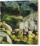 River Rocks 3 Wood Print