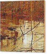 River Russel Wood Print by Lisa  Ridgeway
