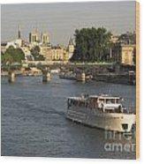 River Seine In Paris Wood Print