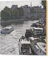 River Seine. Paris Wood Print
