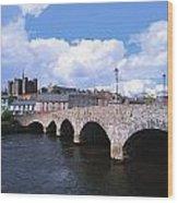 River Slaney, Enniscorthy, Co Wexford Wood Print