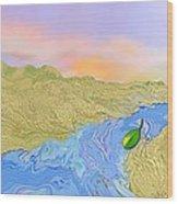 River To The Sea Wood Print
