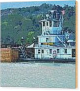 River Transportation Wood Print