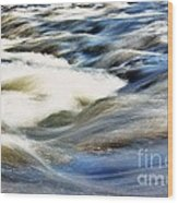River Waves  Wood Print