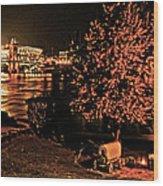 Riverfront 1865-2003 Tall Stacks  By Randall Branham Wood Print
