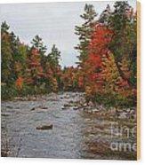 Rivers Run Through It..fall Brilliance Wood Print