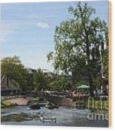 Riverside Afternoon Wood Print