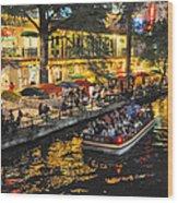 Riverwalk Escape Wood Print